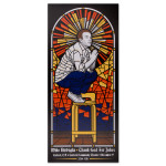 Mike Birbiglia Stained Glass Poster - Turlock, CA 12/9/2014