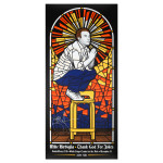 Mike Birbiglia Stained Glass Poster - Santa Rosa, CA 12/11/14 - Signed