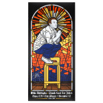 Mike Birbiglia Stained Glass Poster - Napa, CA 12/12/14 - Signed