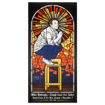 Mike Birbiglia Stained Glass Poster - Santa Cruz, CA 12/7/14 - Signed