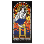 Mike Birbiglia Stained Glass Poster - Arcata, CA 12/13/14