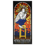 Mike Birbiglia Stained Glass Poster - Davis, CA 12/10/14