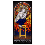 Mike Birbiglia Stained Glass Poster - San Diego, California 12/5/14 - Signed