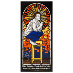 Mike Birbiglia Stained Glass Poster - Kansas City, MO 4/11/15 - Signed