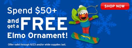 Free Elmo Ornament
