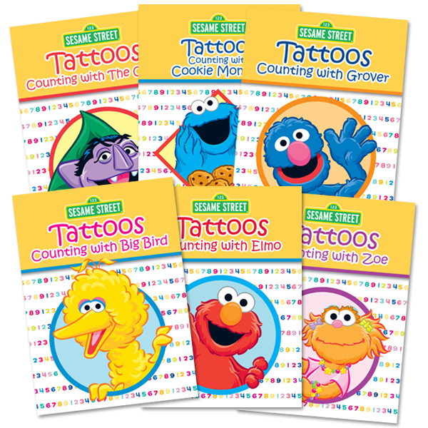 Sesame Street Counting Tattoo Book Bundle