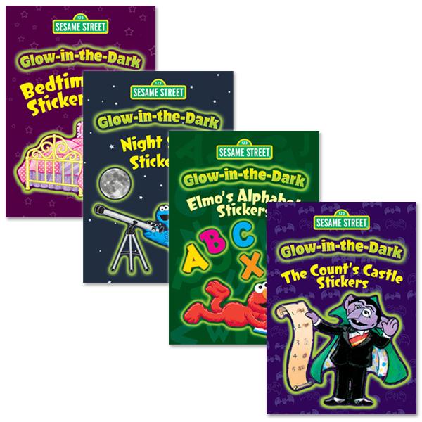 Glow-In-The-Dark Sticker Book Bundle