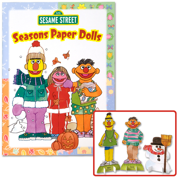 Sesame Street Seasons Paper Dolls Book