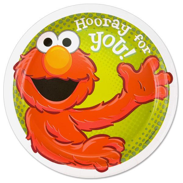 Hooray For You! Elmo Dinner Plates - 8 Pack