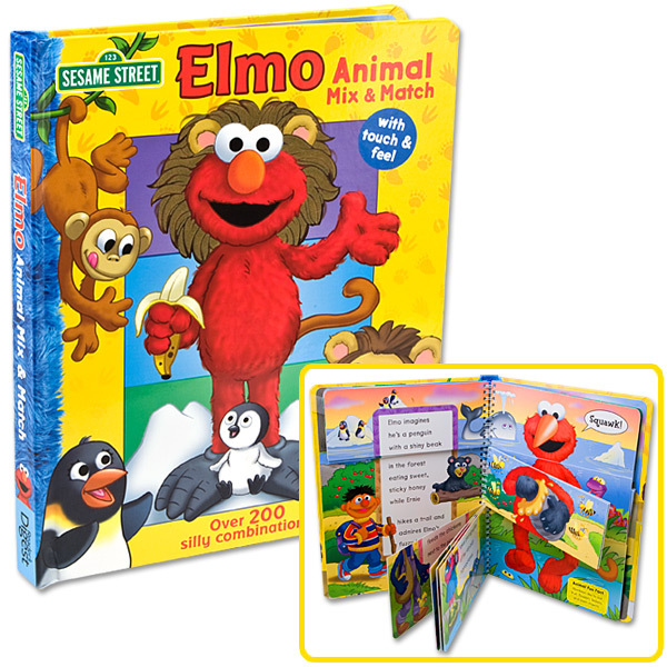 Elmo Animal Mix & Match Book