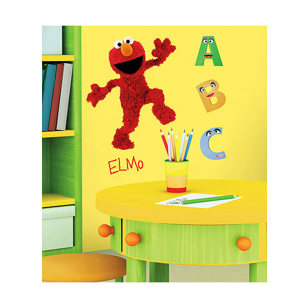 Elmo Peel and Stick Wall Decal