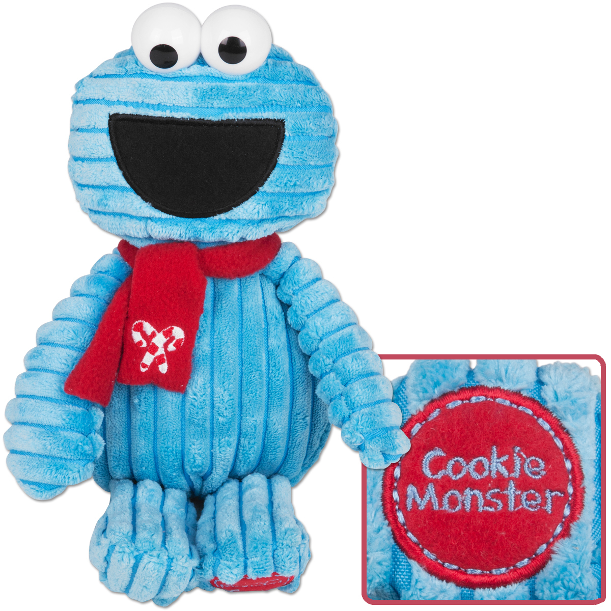 Cookie Monster Corduroy Holiday Plush