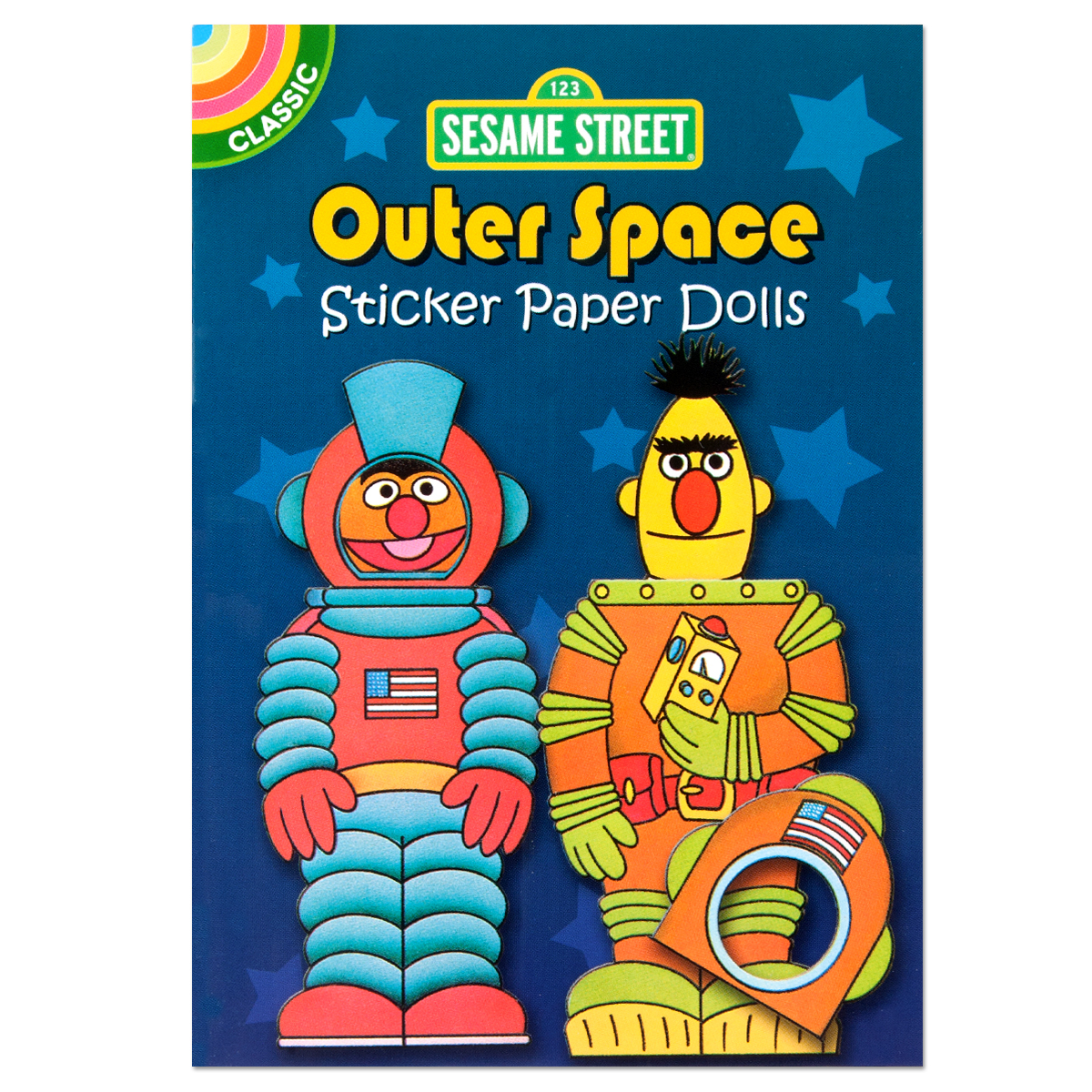Classic Sesame Street: Outer Space Sticker Paper Doll Book