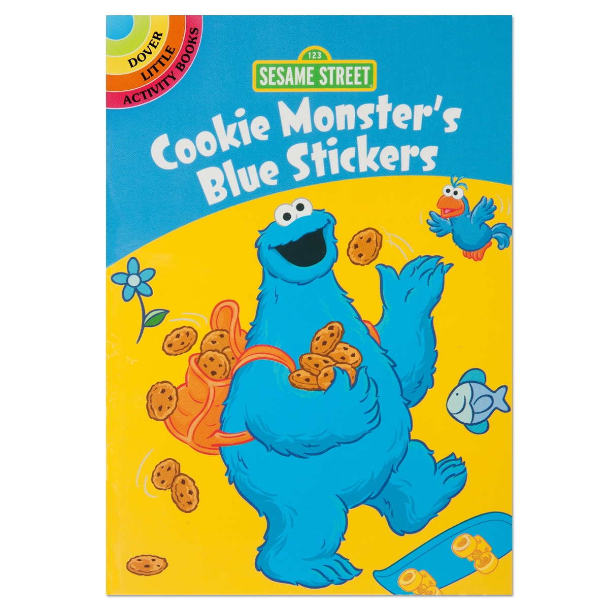 Cookie Monster Blue Sticker Book