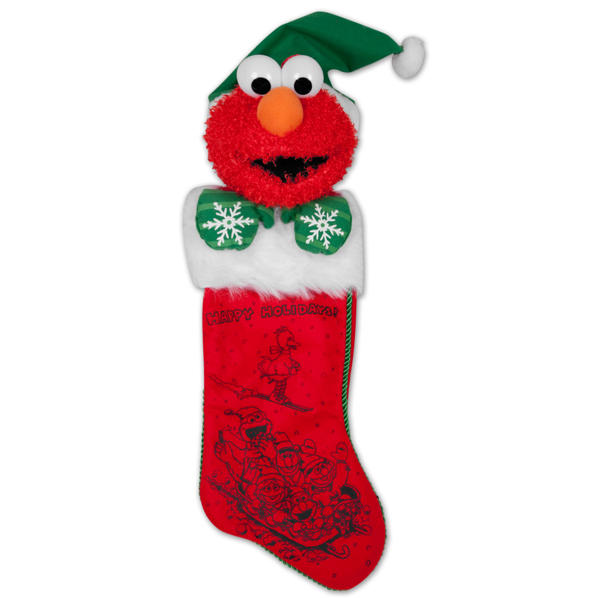 "22"" Elmo Plush Head Stocking"
