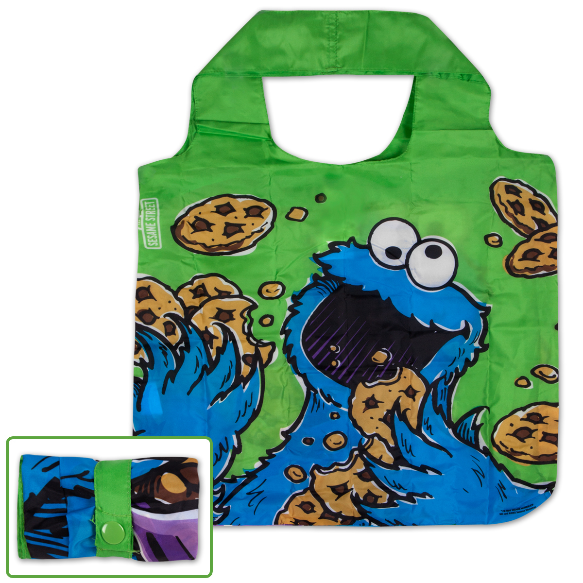 Cookie Monster Green Reusable Tote