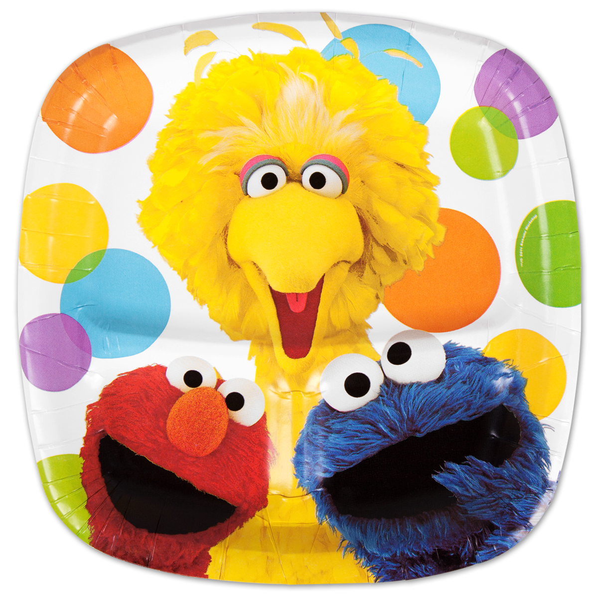 Elmos Party Pocket Dinner Plate