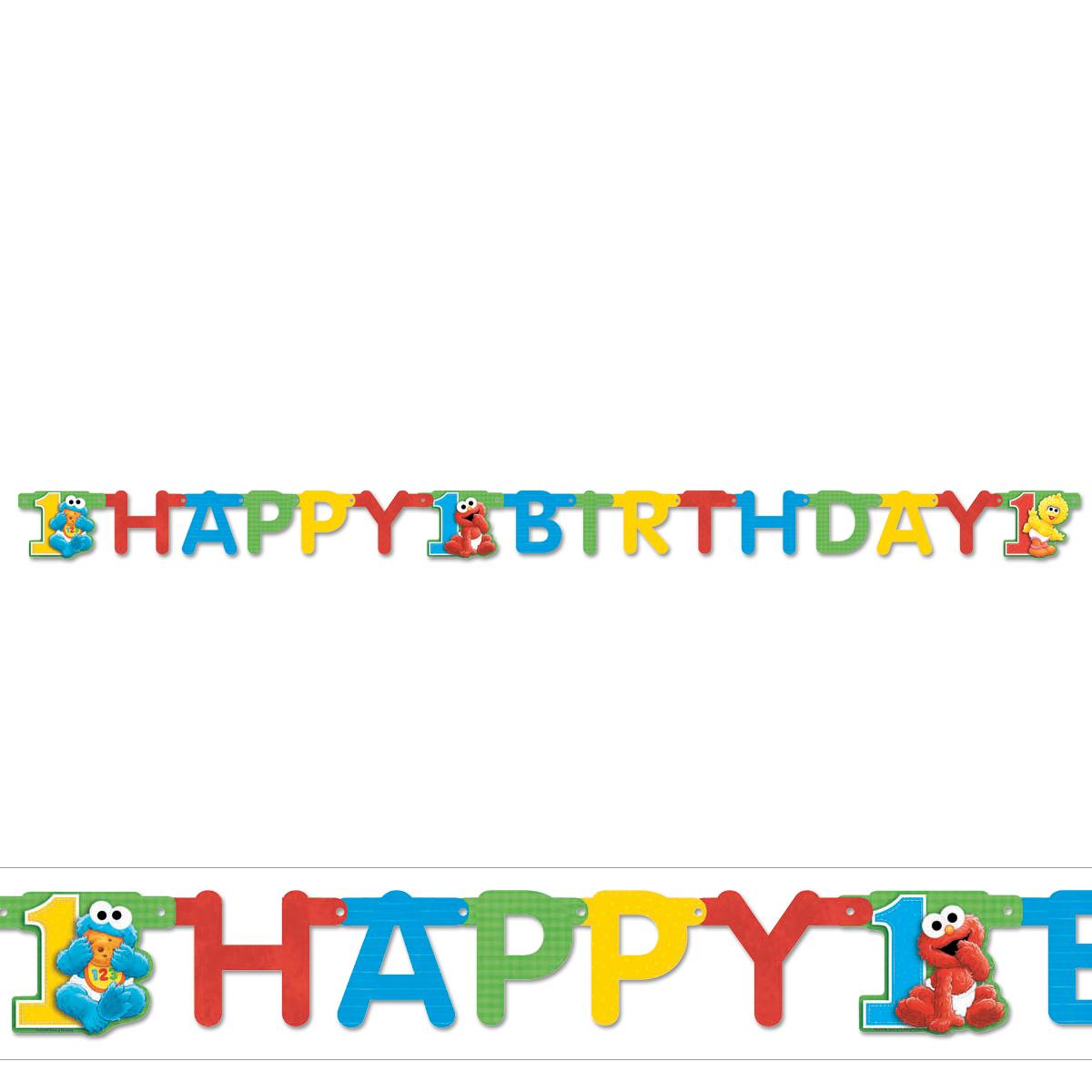Sesame Street 1st Birthday Hinged Banner