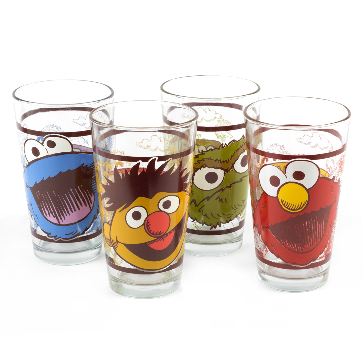 Sesame Street - Collector's Series 16 oz. Glass 4-Pack