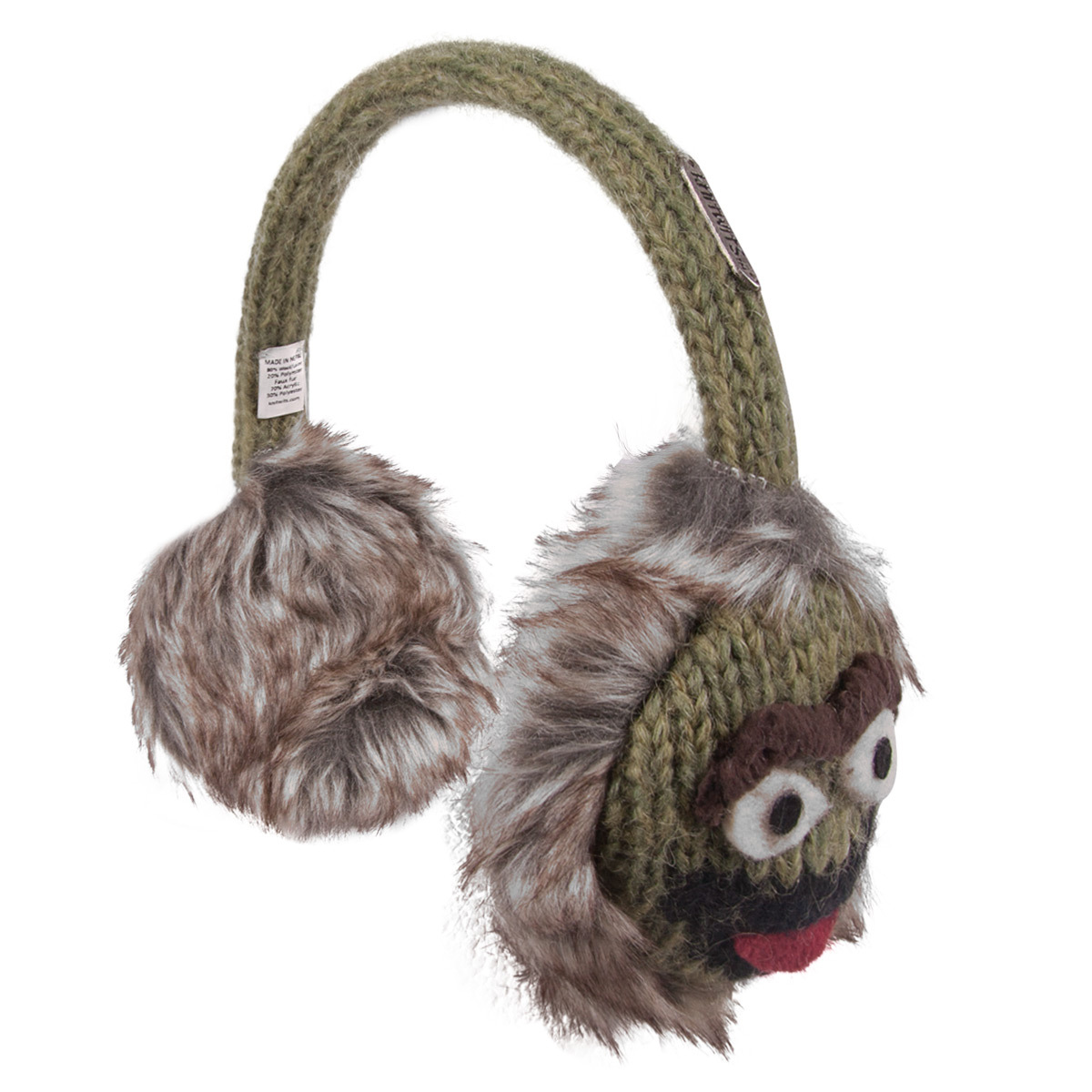 Sesame Street Oscar Knit Earmuffs