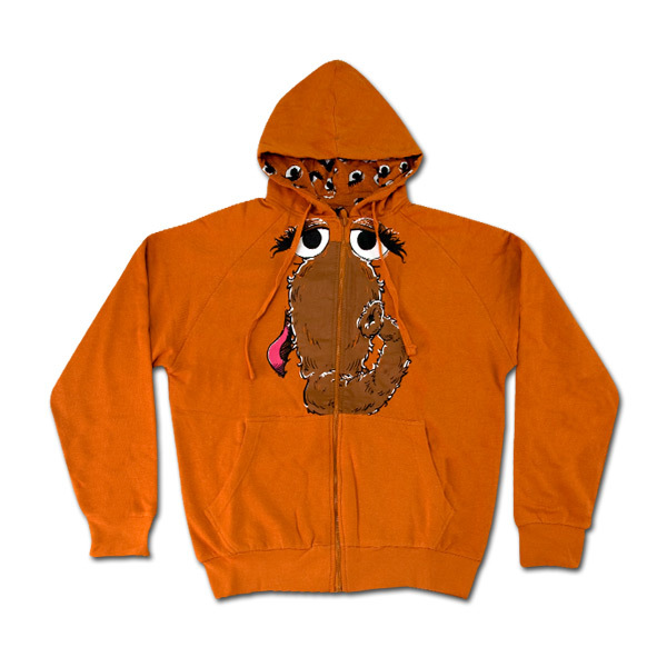 Youth Snuffleaupagus Face Full-Zip Hoodie
