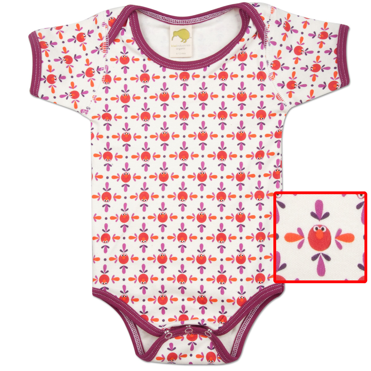 Elmo Pattern Snapsuit