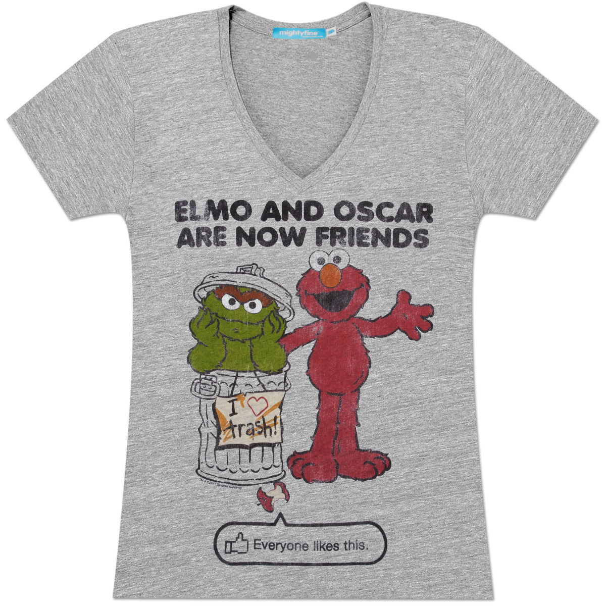 Elmo & Oscar Friends Juniors T-Shirt