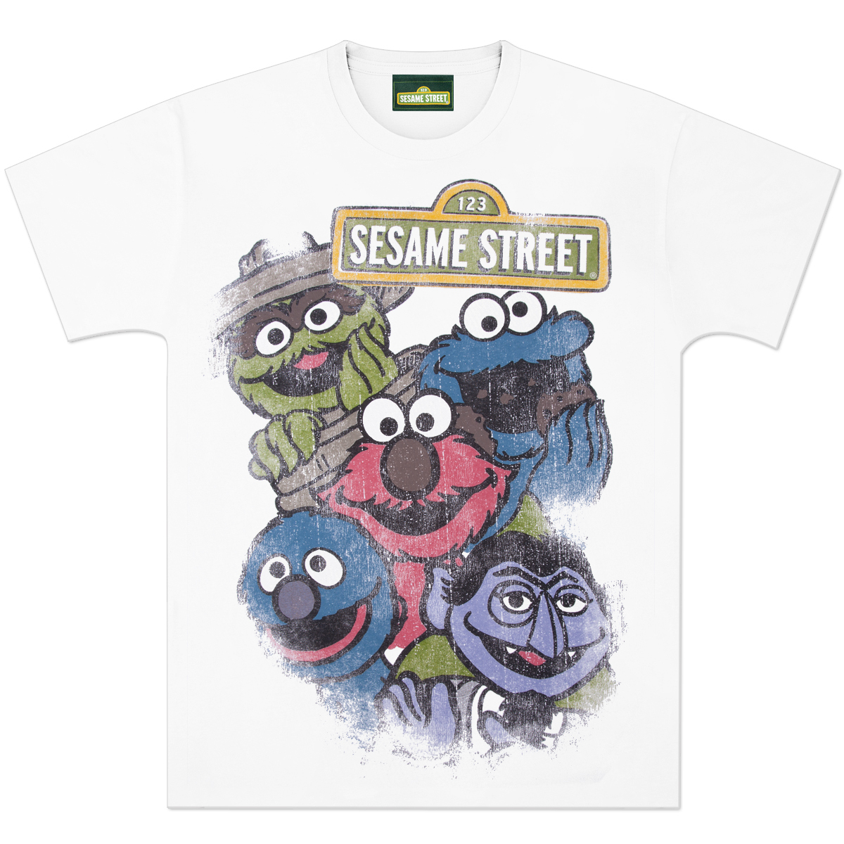Sesame Gang Distressed T-Shirt