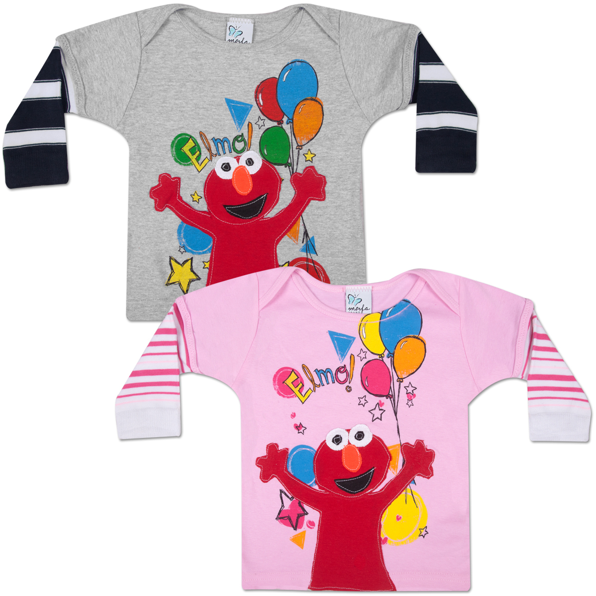MORFS Elmo Party Time Infant Sock T-shirt