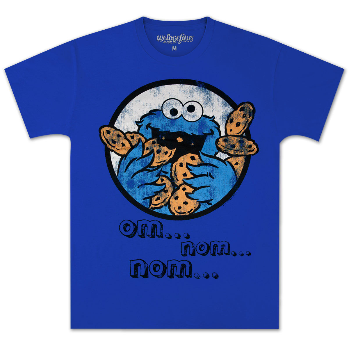Cookie Monster Om Nom Nom T-shirt