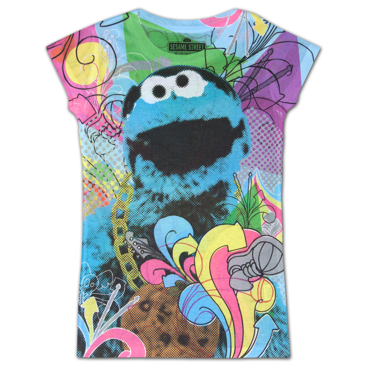 Sesame Street Cookie Monster Girls Sublimation Tee