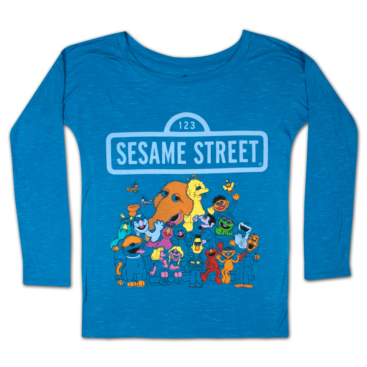 Sesame Street Group Longsleeve Girls Tee