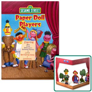 Sesame Street Paper Doll Players Book
