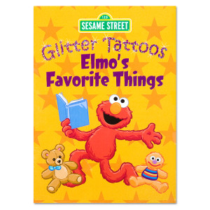 Elmo's Favorite Things Glitter Tattoos Book