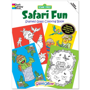 Safari Fun Gem Glow Coloring Book