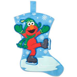 Elmo Skating Felt Stocking