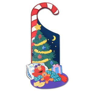 Elmo Holiday Door Hanger