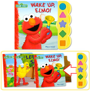 Elmo's 3-Book Play-a-Sound Set