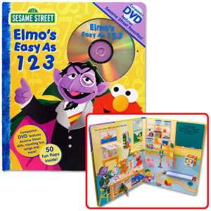 Elmo's Easy As 123 Book and DVD