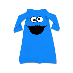 Cookie Monster Youth Fleece Throw with Sleeves