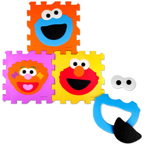 Sesame Street Make a Face Foam Floor Puzzle
