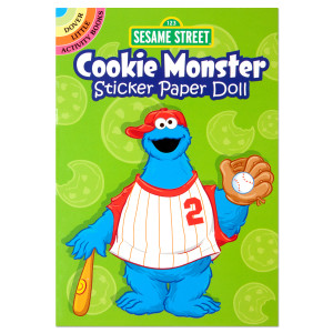 Cookie Monster Sticker Paper Doll Book