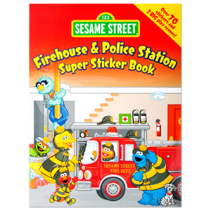 Firehouse & Police Station Super Sticker Book