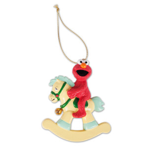 Elmo Rocking Horse Ornament