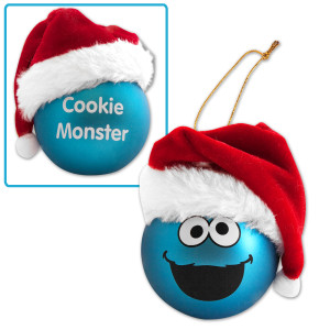 Cookie Monster Big Face Hat Ornament