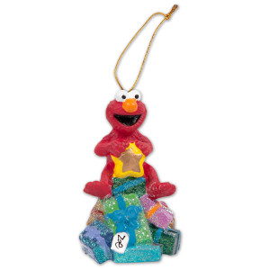"Sesame Street 3.75"" Elmo Presents Ornament"