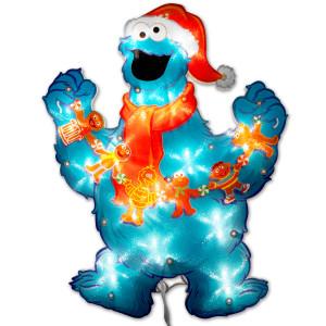 "Sesame Street 12"" Cookie Glitter Gel Window Décor"
