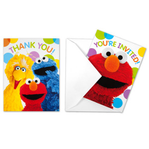 Elmos Party Invitations/Thank You Cards