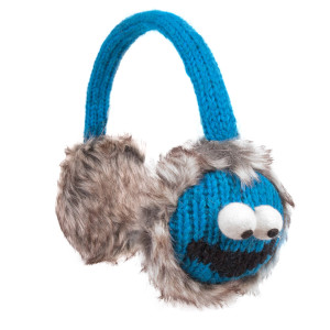 Sesame Street Cookie Monster Knit Earmuffs