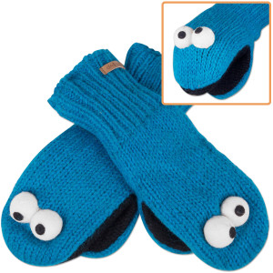 Cookie Monster Adult Mittens